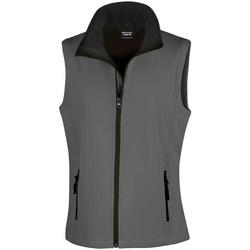 Textiel Dames Jacks / Blazers Result RS232F Houtskool/zwart
