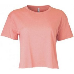Textiel Dames T-shirts korte mouwen Next Level NX5080 Woestijn Roze