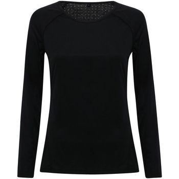 Textiel Dames T-shirts met lange mouwen Tridri TR040 Zwart