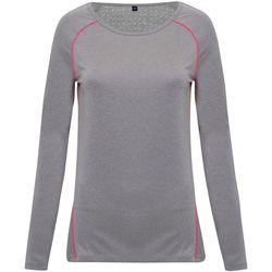 Textiel Dames T-shirts met lange mouwen Tridri TR040 Zilverkleurige Melange