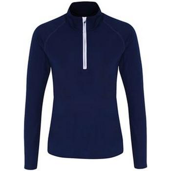 Textiel Dames T-shirts met lange mouwen Tridri TR120 Marine / Wit