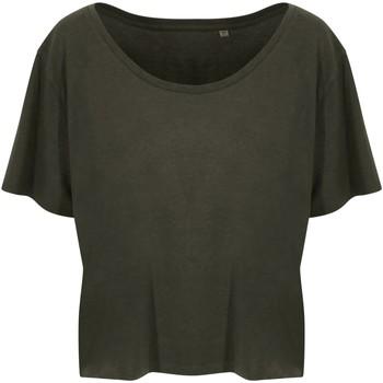 Textiel Dames T-shirts korte mouwen Ecologie EA02F Fern Green