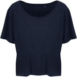 Textiel Dames T-shirts korte mouwen Ecologie EA02F Marine