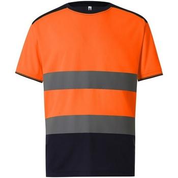 Textiel Heren T-shirts korte mouwen Yoko  Oranje/Zwaar