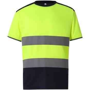Textiel Heren T-shirts korte mouwen Yoko  Geel/Zwaar