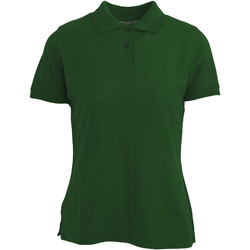 Textiel Dames Polo's korte mouwen Absolute Apparel  Fles groen