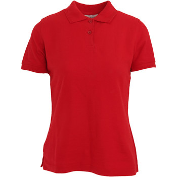 Textiel Dames Polo's korte mouwen Absolute Apparel  Rood