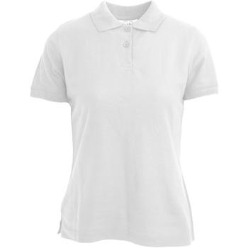 Textiel Dames Polo's korte mouwen Absolute Apparel  Wit