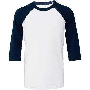 Textiel Dames T-shirts korte mouwen Bella + Canvas BE218 Witte/scheepvaart