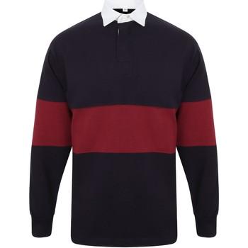 Textiel Polo's lange mouwen Front Row FR07M Marine / Bourgondië
