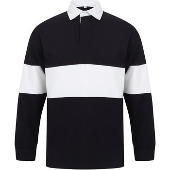 Textiel Polo's lange mouwen Front Row FR07M Marine / Wit