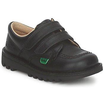 Schoenen Kinderen Lage sneakers Kickers KICK LO VELCRO Zwart