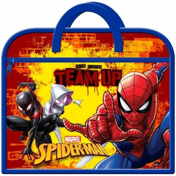 Tassen Kinderen Schooltassen Spiderman  Marine / Rood