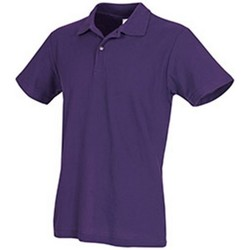 Textiel Heren Polo's korte mouwen Stedman  Diepe bessen