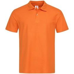 Textiel Heren Polo's korte mouwen Stedman  Oranje