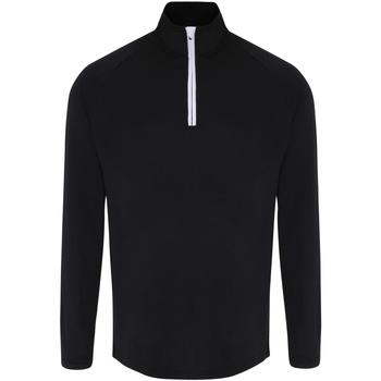 Textiel Heren T-shirts met lange mouwen Tridri TR110 Zwart/Wit