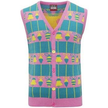 Textiel Vesten / Cardigans Christmas Shop CJ009 Roze/Groen