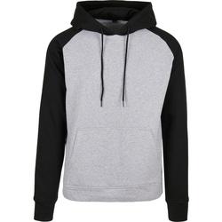 Textiel Heren Sweaters / Sweatshirts Build Your Brand BB005 Heide Grijs/Zwart