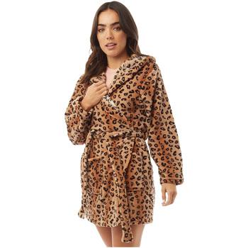 Textiel Dames Pyjama's / nachthemden Brave Soul  Luipaardafdruk