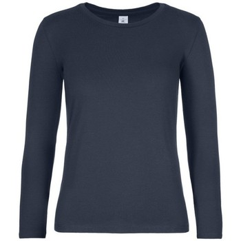 Textiel Dames T-shirts met lange mouwen B And C TW08T Marine