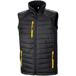 Textiel Jacks / Blazers Result R238X ZWART/GEEL