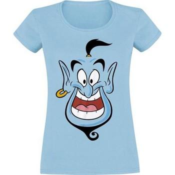 Textiel Dames T-shirts korte mouwen Aladdin  Blauw