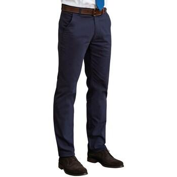 Textiel Heren Broeken / Pantalons Brook Taverner BR160 Marine