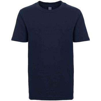 Textiel Kinderen T-shirts korte mouwen Next Level NX3310 Middernacht marine