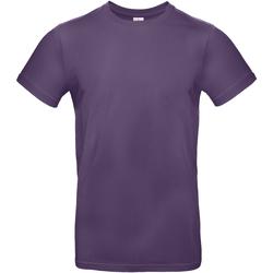 Textiel Heren T-shirts korte mouwen B And C BA220 Stralend paars