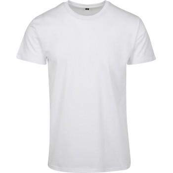 Textiel Heren T-shirts korte mouwen Build Your Brand BY090 Wit
