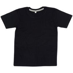 Textiel Kinderen T-shirts korte mouwen Babybugz BZ090 Zwart/Heather Grey