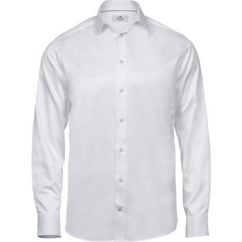 Textiel Heren Overhemden lange mouwen Tee Jays TJ4020 Wit