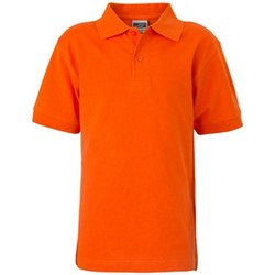 Textiel Kinderen Polo's korte mouwen James And Nicholson  Donker Oranje