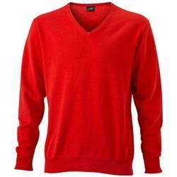 Textiel Heren Sweaters / Sweatshirts James And Nicholson  Donker Oranje