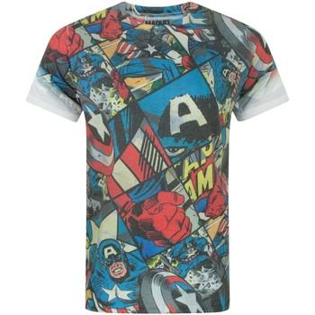 Textiel Heren T-shirts korte mouwen Captain America  Veelkleurig