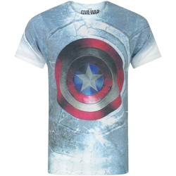 Textiel Heren T-shirts korte mouwen Captain America Civil War  Veelkleurig