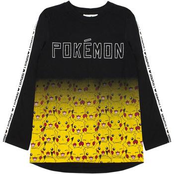 Textiel Jongens T-shirts met lange mouwen Pokemon  ZWART/GEEL