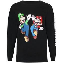 Textiel Jongens Sweaters / Sweatshirts Super Mario  Zwart