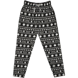 Textiel Heren Pyjama's / nachthemden Nightmare Before Christmas  Zwart/Wit