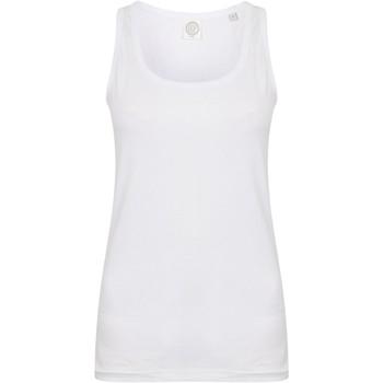 Textiel Dames Mouwloze tops Skinni Fit SK123 Wit