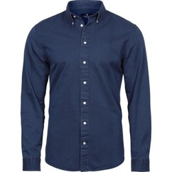 Textiel Heren Overhemden lange mouwen Tee Jays TJ4002 Indigo