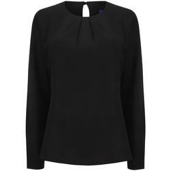 Textiel Dames T-shirts met lange mouwen Henbury HB598 Zwart