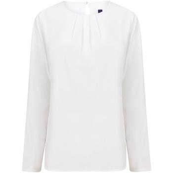 Textiel Dames T-shirts met lange mouwen Henbury HB598 Wit