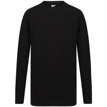 Textiel Heren T-shirts met lange mouwen Sf SF259 Zwart
