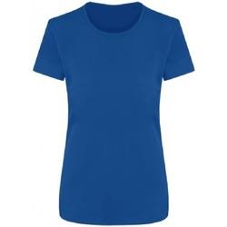 Textiel Dames T-shirts korte mouwen Ecologie EA04F Koningsblauw
