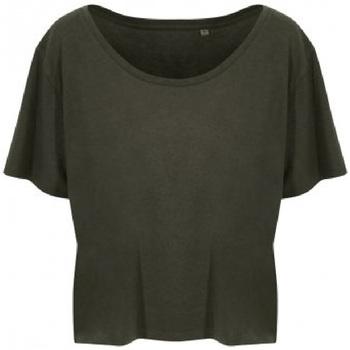 Textiel Dames T-shirts korte mouwen Ecologie EA002F Fern Green
