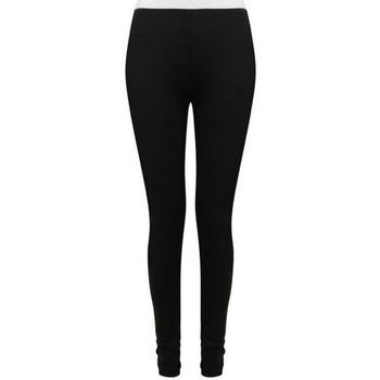 Textiel Dames Leggings Sf SK426 Zwart/Wit