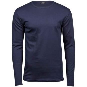 Textiel Heren T-shirts met lange mouwen Tee Jays T530 Marine