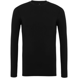 Textiel Heren T-shirts met lange mouwen Tridri TR016 Zwart