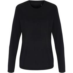 Textiel Dames T-shirts met lange mouwen Tridri TR060 Zwart